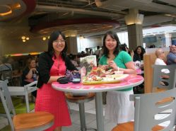 food court munching