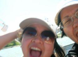 speedboat bouncing