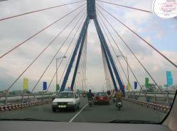 bridge view from a car