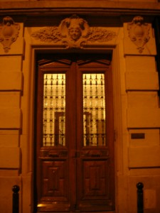 impressive doors and grandiose, palatial living