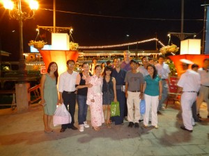 group pic in front of Tau Saigon (sgn ship)