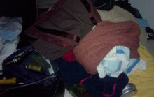 clothes on my bed! I'm such a mess!