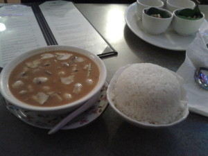 Classic tom yum and coconut rice