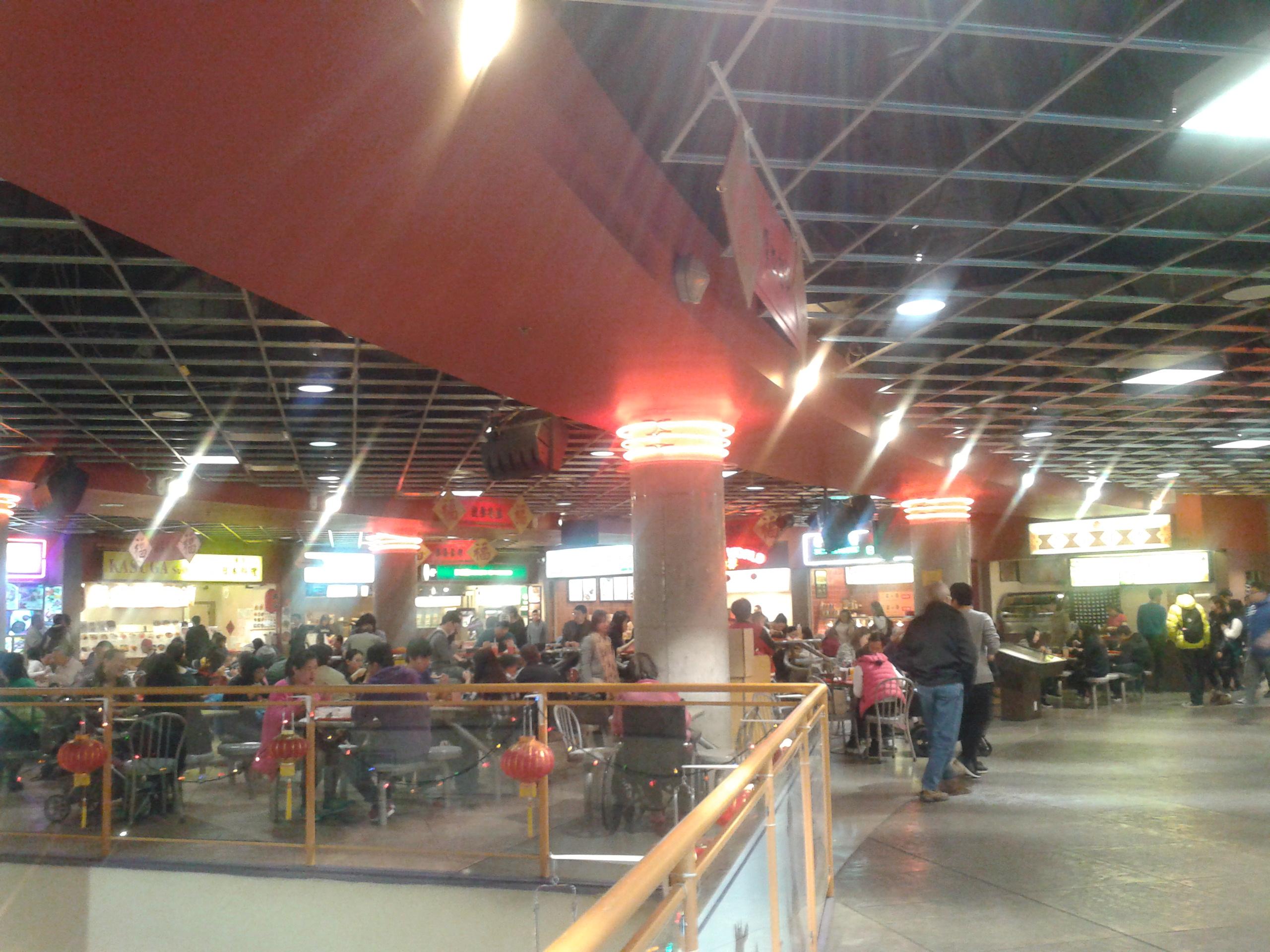 shiny food court